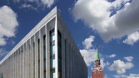 状态国会克里姆林宫PalaceÂ克里姆林宫宫殿反对天空的 在克里姆林宫里面,俄罗斯天 股票视频