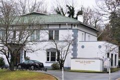 玻利维亚的使馆Plurinational状态华盛顿特区的 免版税库存照片