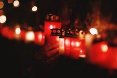 烧在记忆守夜的蜡烛 库存照片