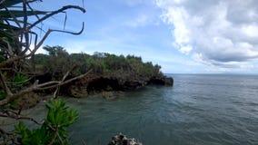 热带海滩的美丽的景色,美丽的海亚洲 股票视频