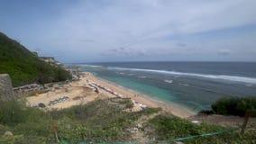 热带海滩的美丽的景色,美丽的海亚洲 股票录像