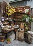 瓦器商店在京都,日本 免版税库存图片
