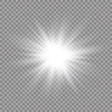 焕发光线影响 与闪闪发光的星爆炸 晒裂 也corel凹道例证向量 库存例证