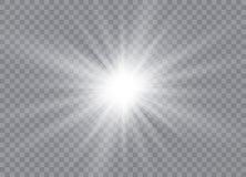 焕发光线影响 与闪闪发光的星爆炸 晒裂 也corel凹道例证向量 皇族释放例证