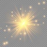 焕发光线影响 与闪闪发光的星爆炸 晒裂 也corel凹道例证向量 向量例证