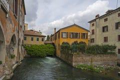 特雷维索、意大利和它的运河 免版税库存照片