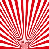 白色红色光芒 库存例证