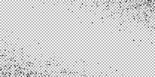 疏散密集的balck小点 黑暗指向分散作用 向量例证