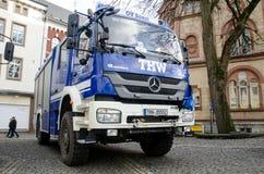 索斯特,德国- 2017年12月31日:德语技术安心设备的车德国联邦政府机关:Bundesanstalt 免版税库存照片