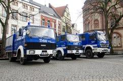 索斯特,德国- 2017年12月31日:德语技术安心设备的车德国联邦政府机关:Bundesanstalt 库存照片