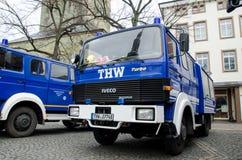索斯特,德国- 2017年12月31日:德语技术安心设备的车德国联邦政府机关:Bundesanstalt 图库摄影