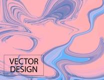 紫罗兰色梯度移动的装饰 液体蓝色可变的时髦形状 最小的动态盖子例证 五颜六色脸红现代 库存照片