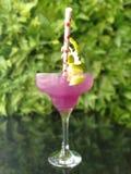 紫色margrita鸡尾酒 免版税库存照片