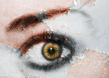 ç Eye Art ç. Photo of my eye done in an artistic style stock illustration