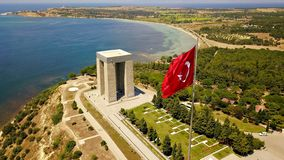 Çanakkale Martyrs Monument and Gallipoli Peninsula. The memory of the soldiers who lost their lives in the Gallipoli peninsula and the Dardanelles wars in stock photography