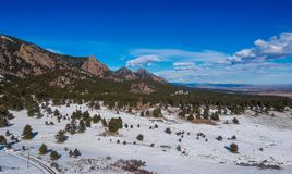落矶山脉山麓小丘在科罗拉多 免版税图库摄影