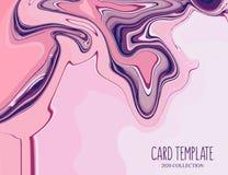 行动桃红色紫罗兰液体飞溅背景 在淡色的流动装饰 r o 免版税库存图片
