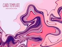 行动桃红色紫罗兰液体飞溅背景 在淡色的流动装饰 r o 图库摄影