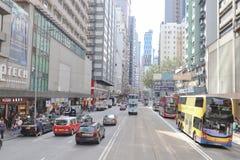 街道视图在香港,2019年2月 库存照片