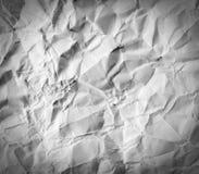 被弄皱的纸纹理 库存图片
