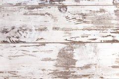 被浪费的白色木墙壁 免版税库存照片