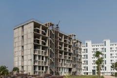 被放弃的大厦,未完成的大厦和被放弃了 免版税图库摄影