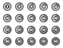 装载者定时器象集合 向量例证