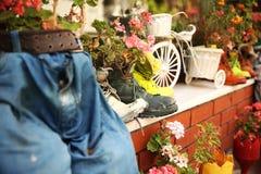 装饰庭院在伊斯坦布尔 免版税库存图片