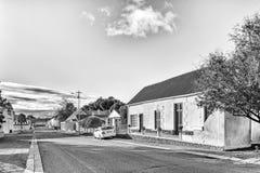 西维多利亚黑白照片的历史的房子 库存照片