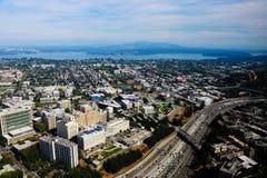 西雅图,美国,2018年8月31日:西雅图,华盛顿看法从上面 库存图片