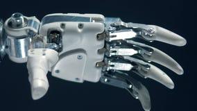计算机控制学的手移动手指,假肢工作 股票视频
