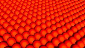 许多抽象球形,错觉当海波浪,等量背景,现代计算机生成的3D回报 影视素材