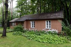 诺贝尔奖得奖人鲍里斯・帕斯捷尔纳克博物馆的疆土的议院在Peredelkino 库存照片