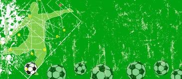 足球或橄榄球设计模板w 足球运动员,足球,拷贝空间 库存例证