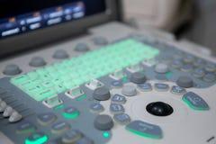 超声波X-射线诊断的扫描机器 库存照片