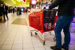 超级市场的被弄脏的背景 库存图片