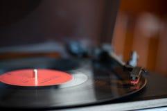 轮桌和唱片 免版税库存照片