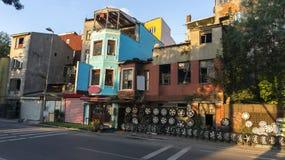轮胎商店在伊斯坦布尔 免版税图库摄影
