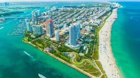 迈阿密海滩,南海滩看法  佛罗里达 美国 免版税库存图片