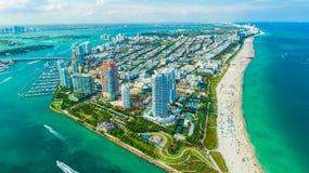 迈阿密海滩,南海滩看法  佛罗里达 美国 库存照片