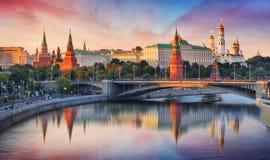 莫斯科、克里姆林宫和莫斯科河,俄罗斯 免版税库存照片