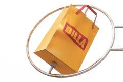 莫斯科,俄罗斯- 2018年11月10日:Billa杂货店略写法在莫斯科 Billa是杂货店一个国际链子, 免版税图库摄影