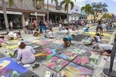 莱克沃思,佛罗里达,美国很好23-24,2019第25每年街道绘画费斯特 免版税图库摄影