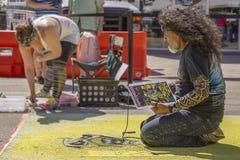莱克沃思,佛罗里达,美国很好23-24,2019第25每年街道绘画费斯特 图库摄影