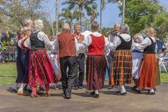 莱克沃思,佛罗里达,美国2019 3月3日,庆祝芬兰文化的白夜节日 免版税库存照片