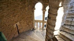 螺旋形楼梯斯卡拉Contarini del Bovolo,威尼斯,意大利 库存图片