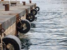 船坞的看法 免版税库存图片