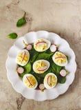 蘸芥末蛋作为开胃菜 库存图片