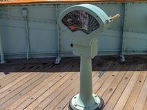 葡萄酒引擎在船坞的命令通信机 免版税库存图片