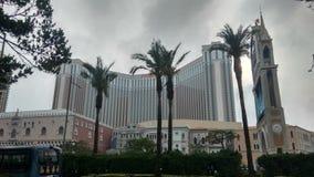 著名赌博娱乐场威尼斯在澳门 库存照片